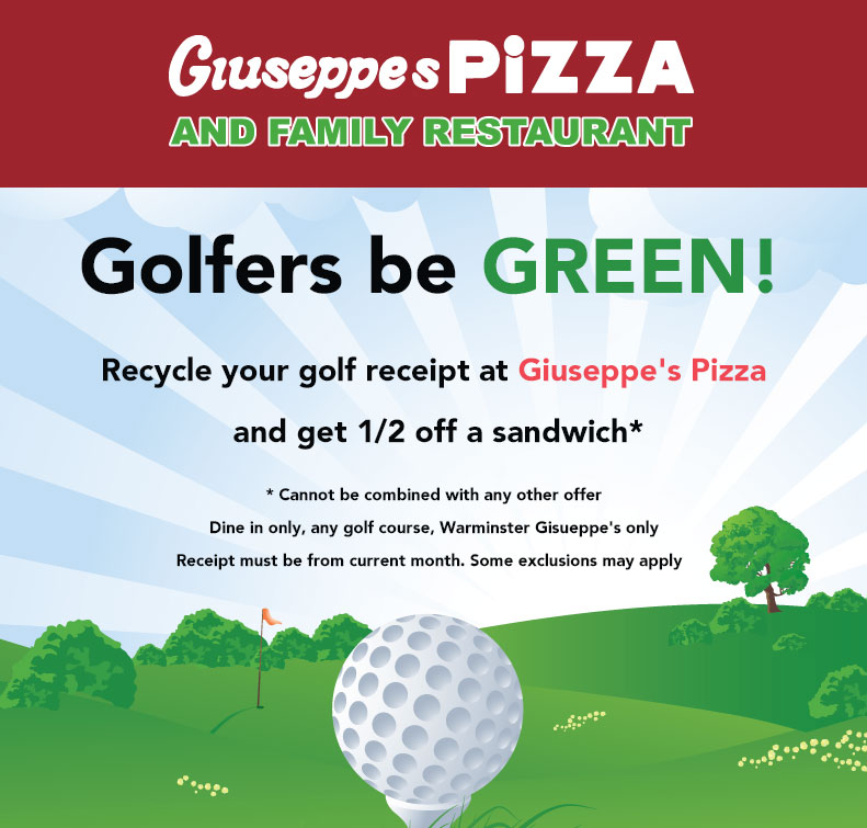 Golfers eat at half price