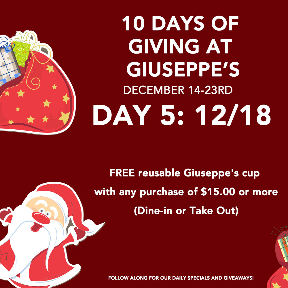 Day Five: 10 Days of Giuseppe's Giveaways!