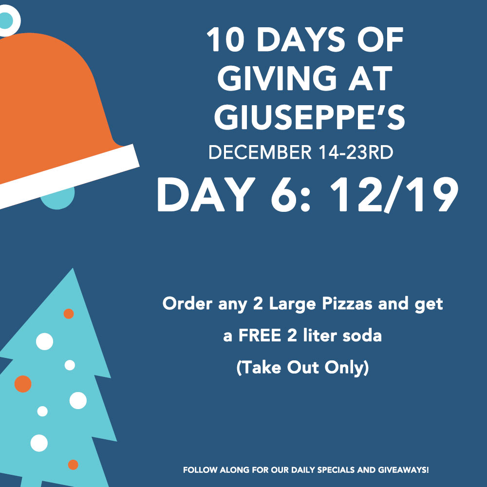 Day Six: 10 Days of Giuseppe's Giveaways!
