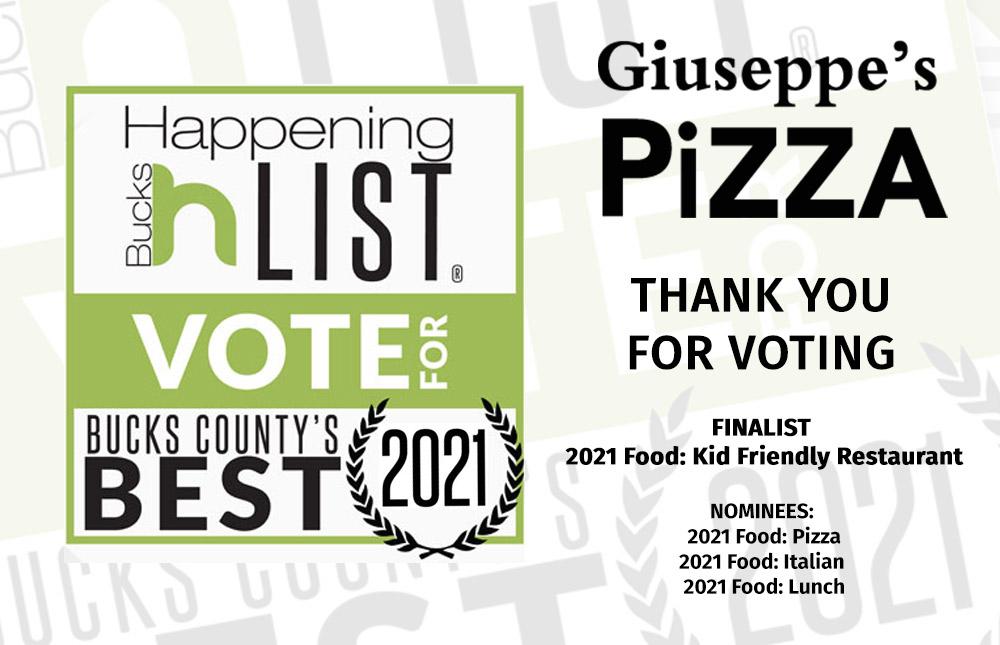 Giuseppes Pizza Happening List 2021 - FINALIST