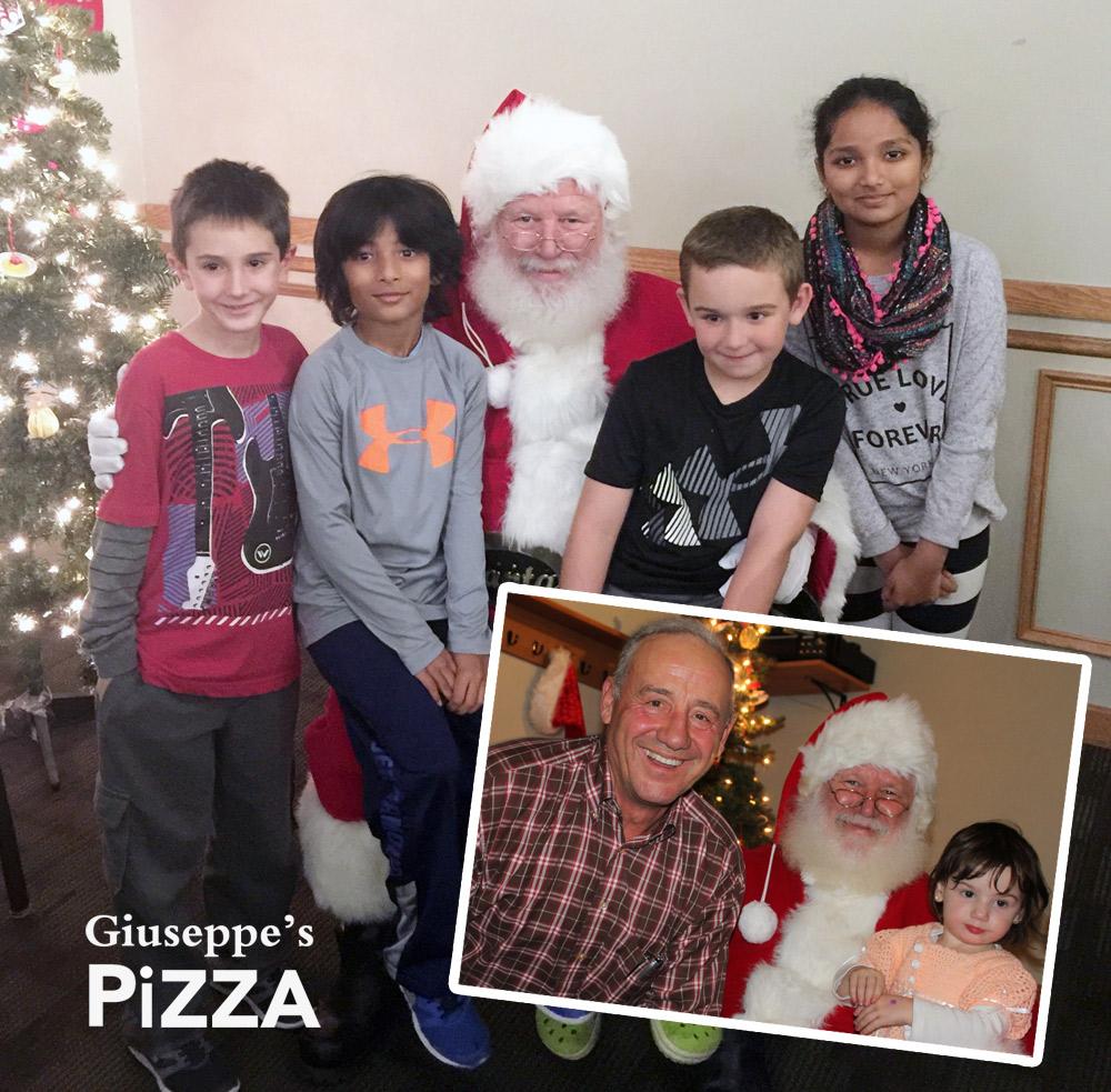 Santa visiting Giuseppes!