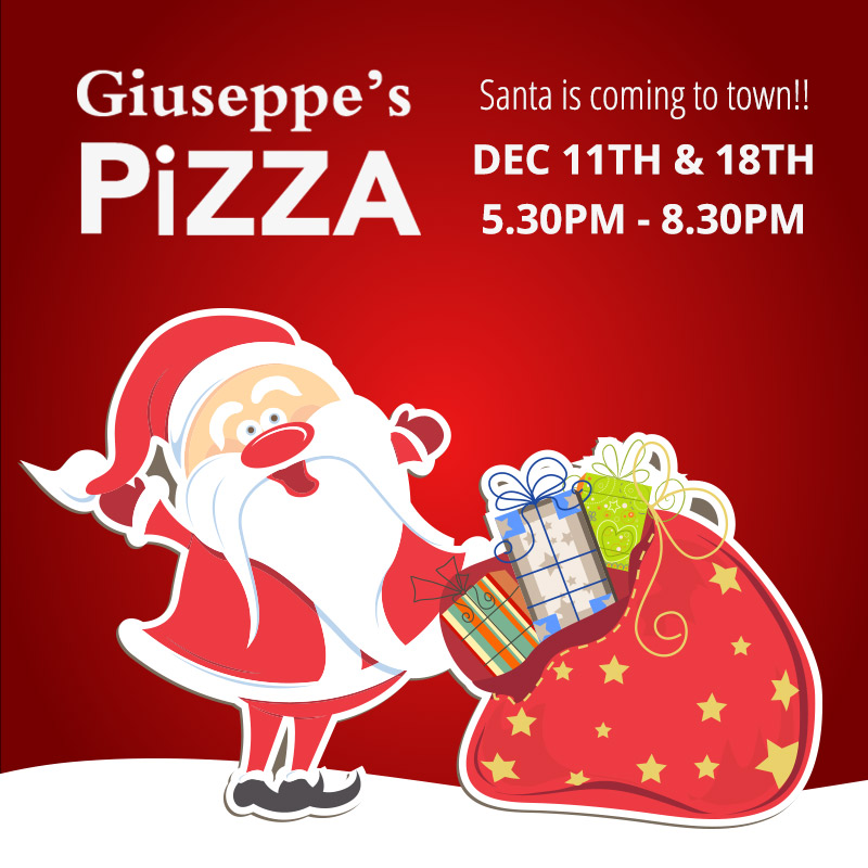 Santa is coming to Giuseppes this December, 2019