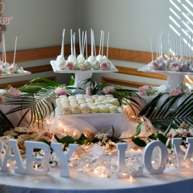 Pink and Gold Baby Shower Sweet Table-5-4
